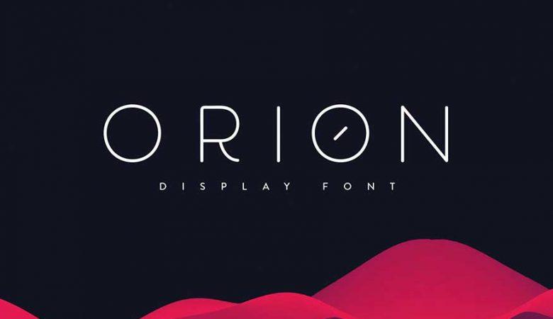 Orion Font