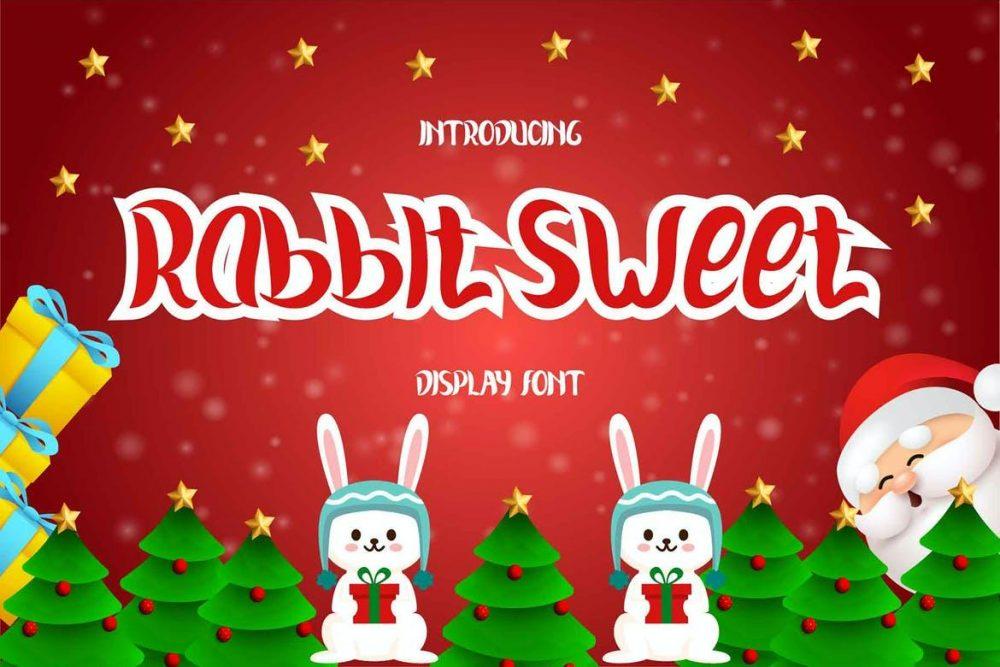 Rabbit Sweet Display Font Free Download