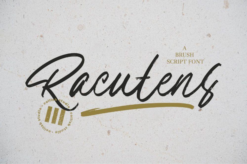 Racutens Font Free Download