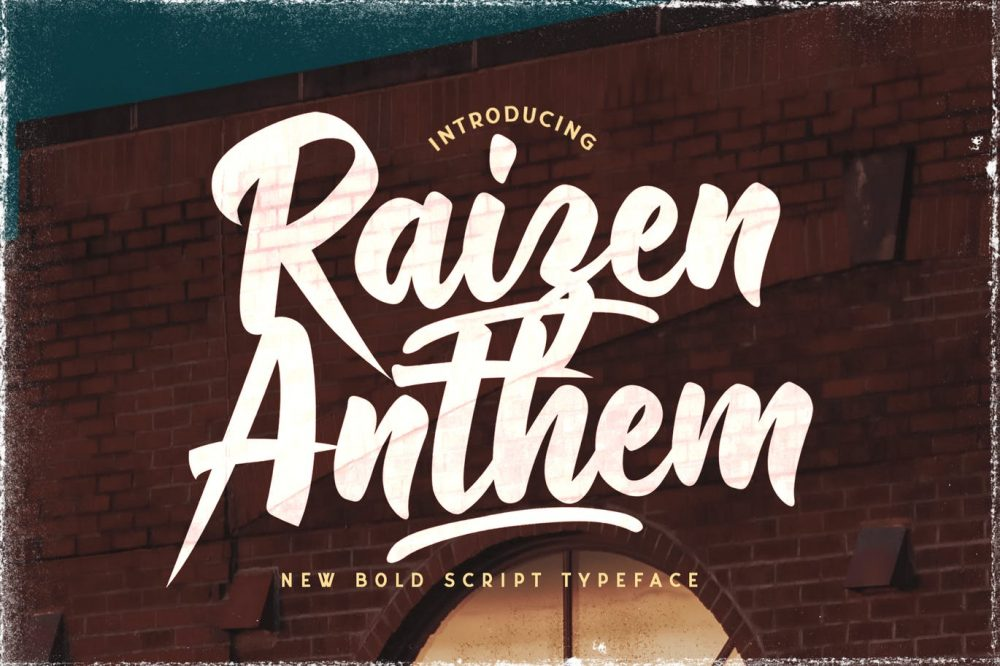 Raizen Anthem Script Font