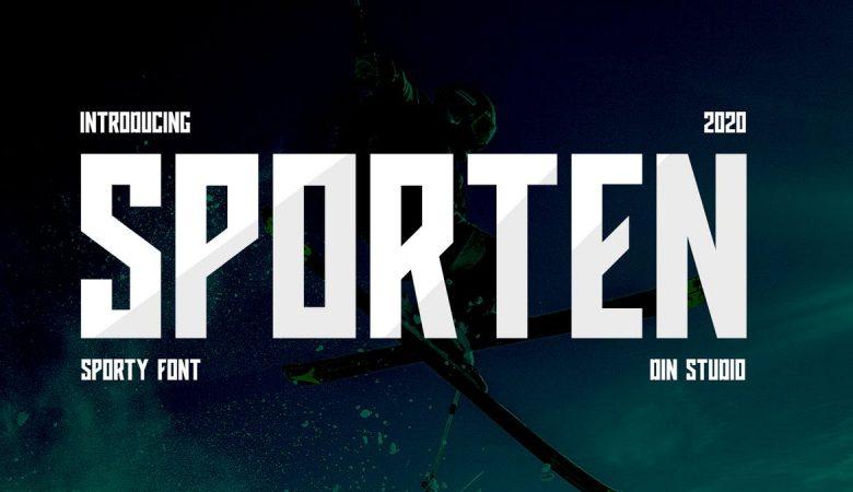 Sporten-Classic Sport Font