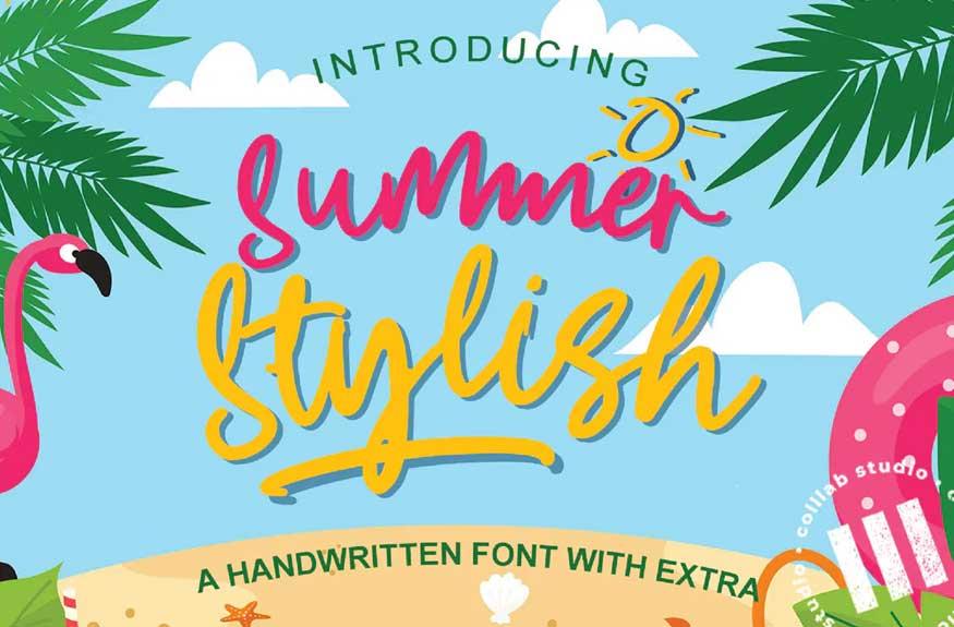 Summer Stylish Font Free Download