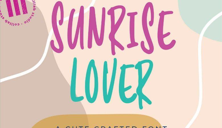 Sunrise Lover Font Free Download