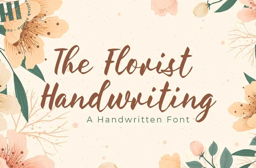The Florist Handwriting Font