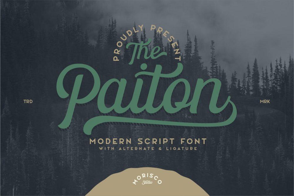 The Paiton Script Font
