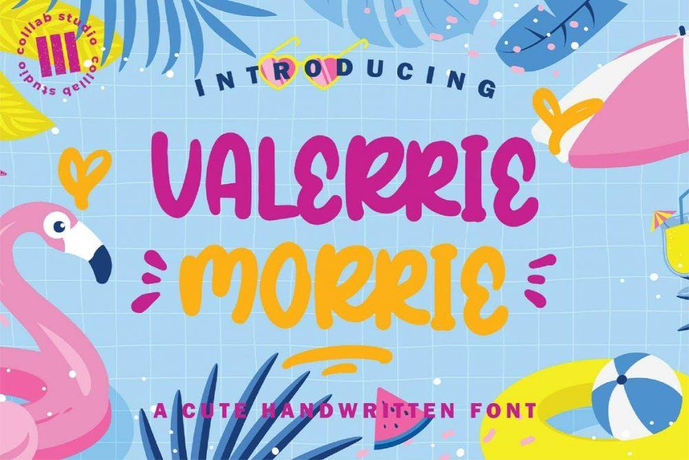 Valerrie Morrie Font Free Download