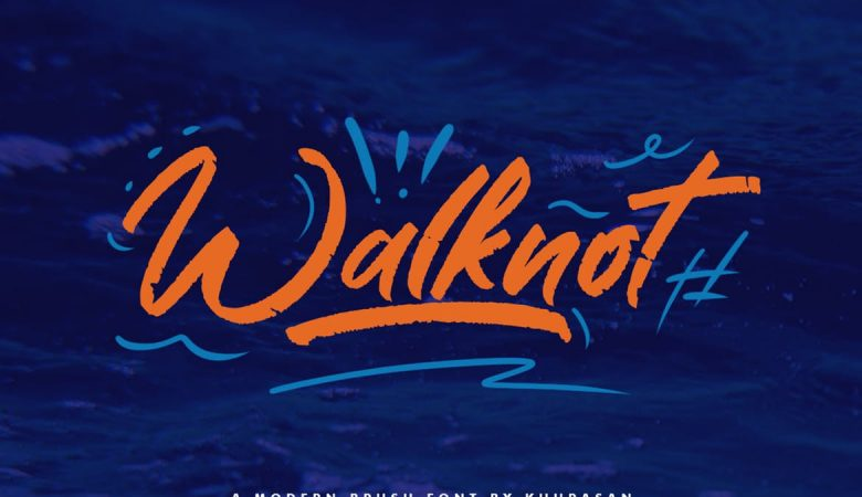 Walknot Brush Font