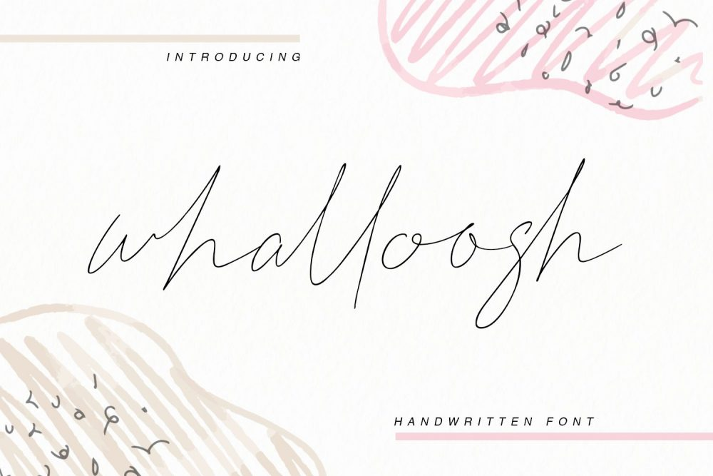 Whalloosh Font Free Download