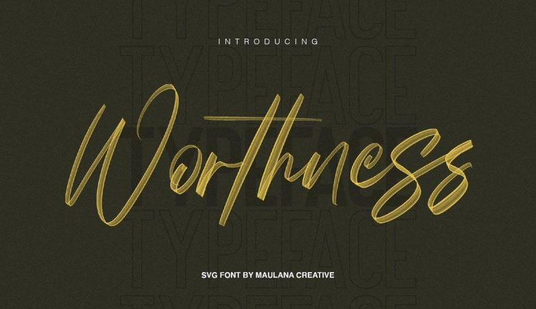 Worthness SVG Brush Font