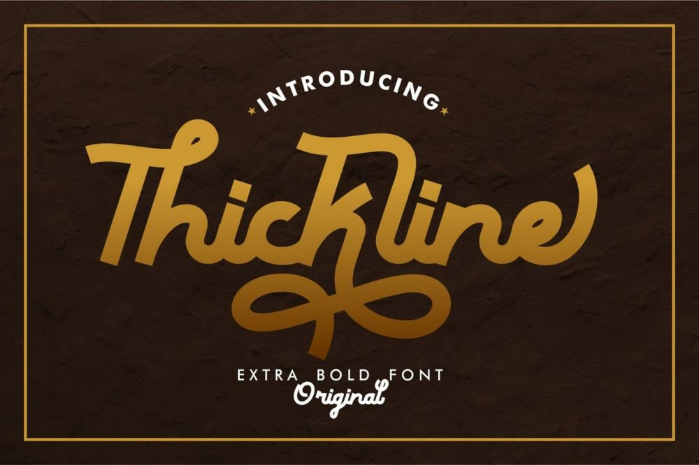 Thickline Classic Bold Font
