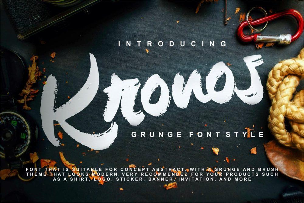 Kronos Grunge Font