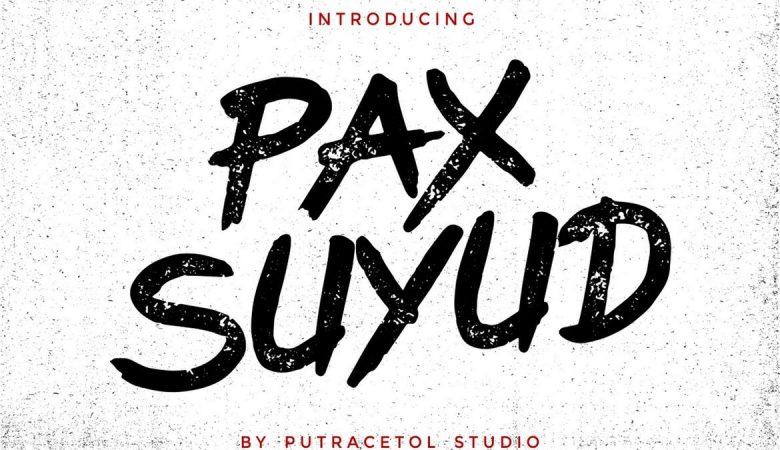Pax Suyud Font
