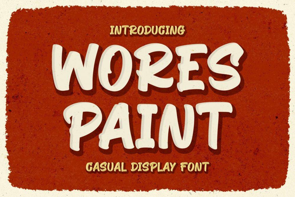 Wores Paint Font