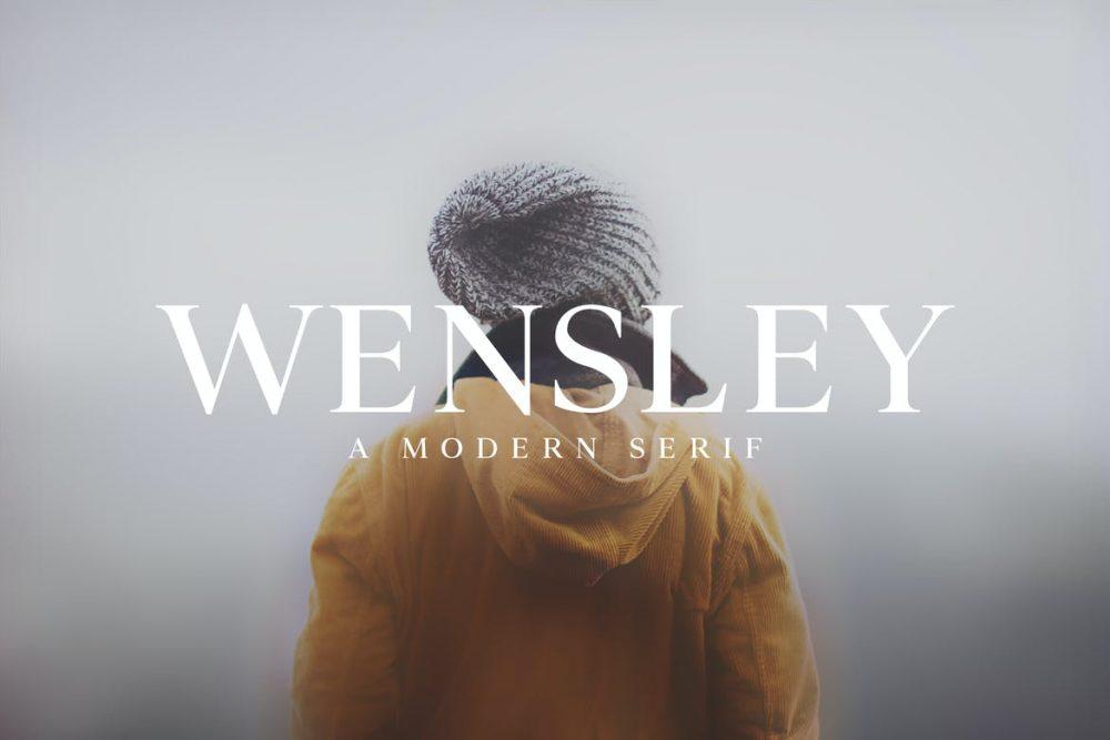 Wensley Modern Serif Font