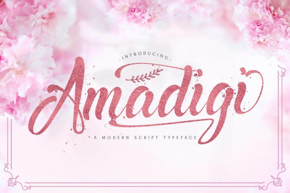 Amadigi Script Font