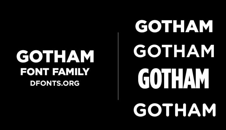 Gotham Font Family Free Download