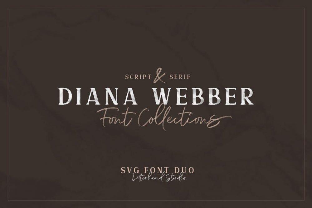 Diana Webber - SVG Font Duo