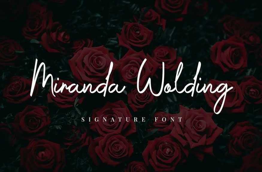 Miranda Wolding Handwritten Script