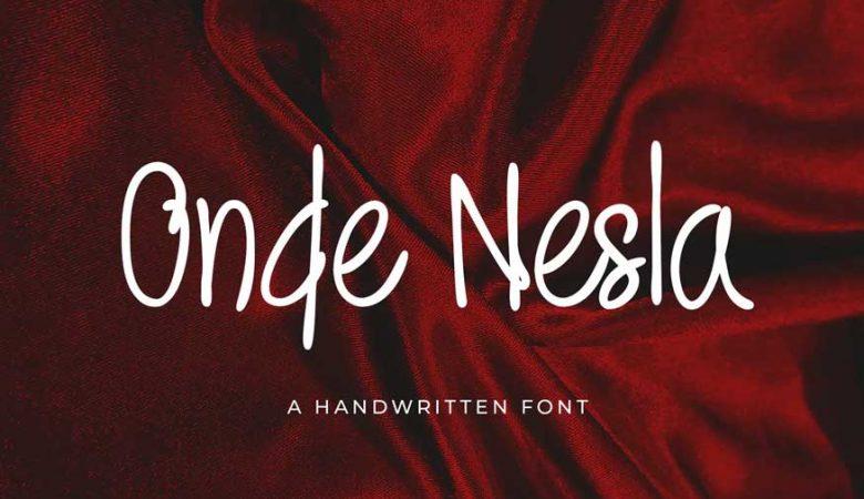 Onde Nesla Handwritten Font