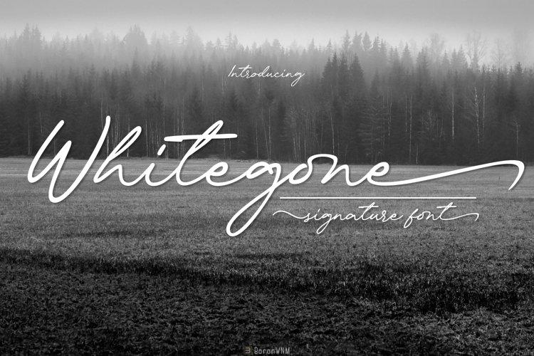 Whitegone Font