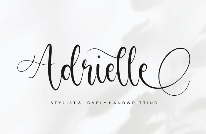 Adrielle Script Font YH