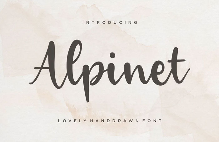 Alpinet Brush Font YH