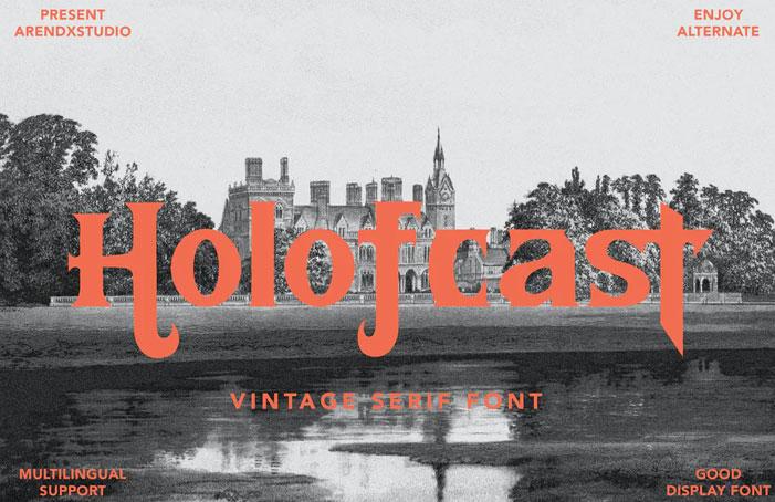Holofcast - Vintage Serif Font