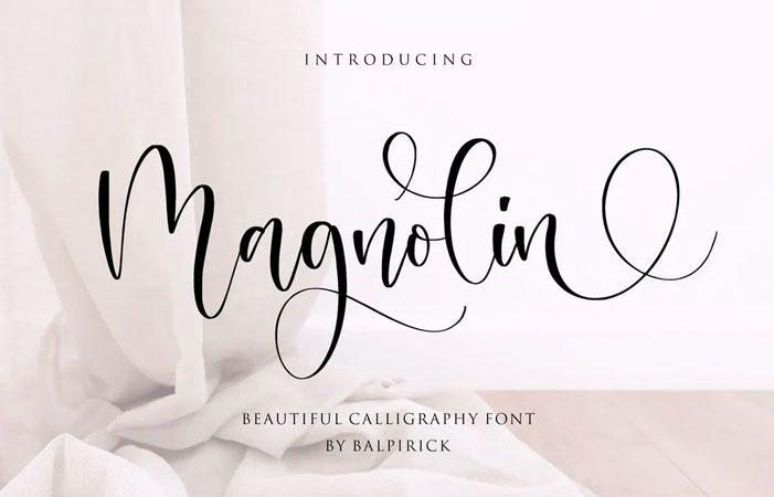 Magnolin Script Font YH