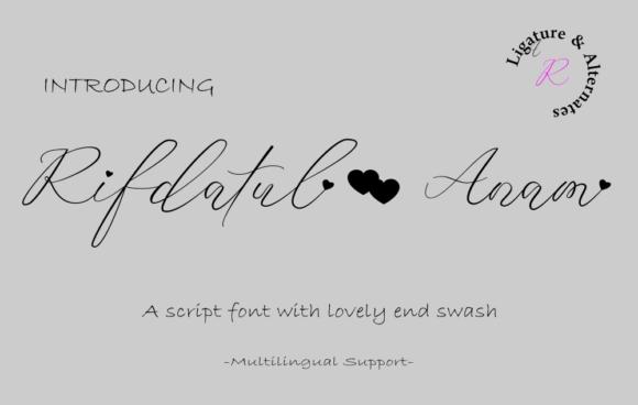 Rifdatul Anam Font