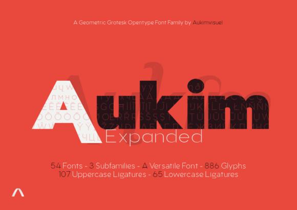 Aukim Expanded Font