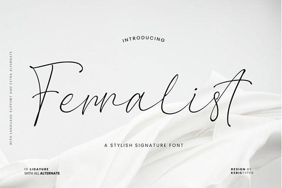 Ferralist Stylish Signature Font