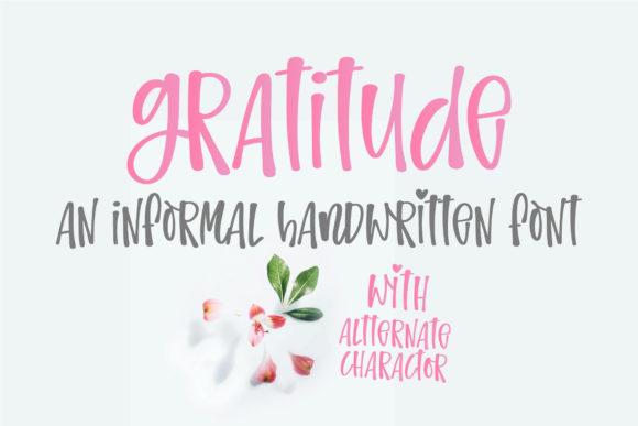 Gratitude Font