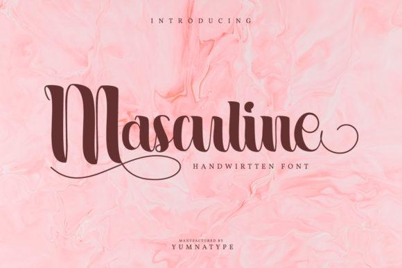 Masculine Font