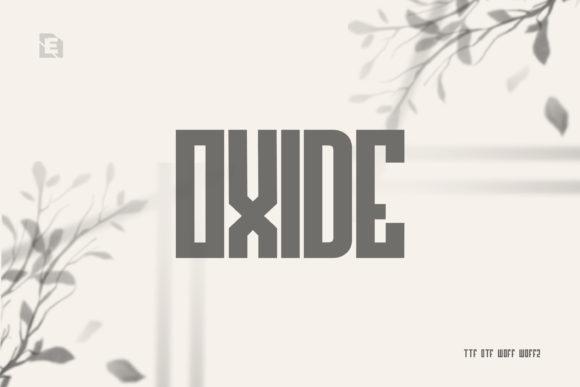 Oxide Font