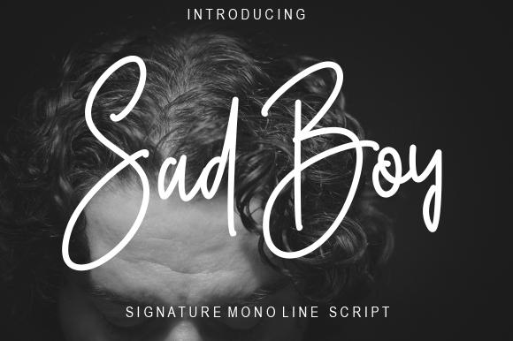 Sad Boy Font