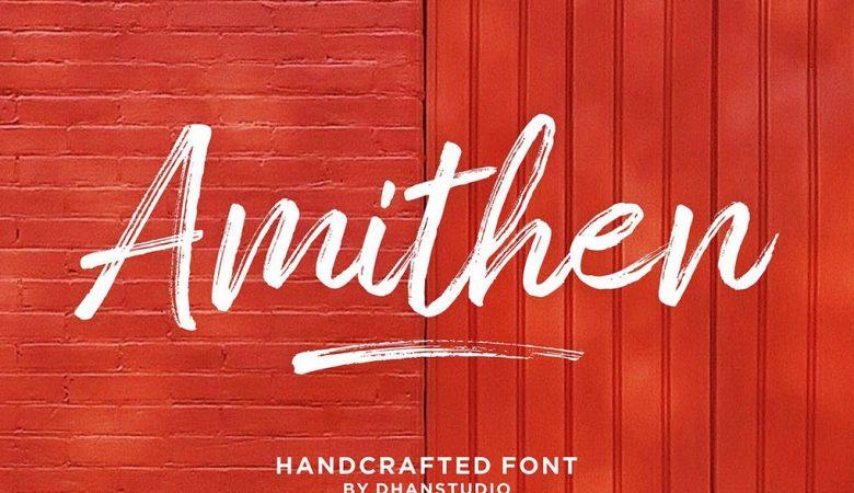 Amithen Brush Font Free Download